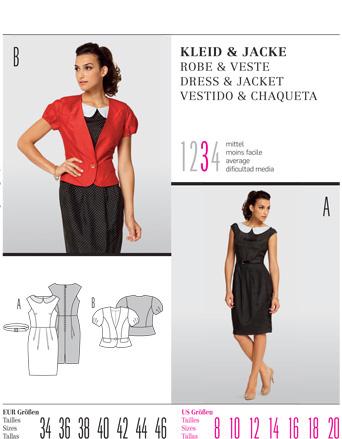 Burda DRESS & JACKET 7494