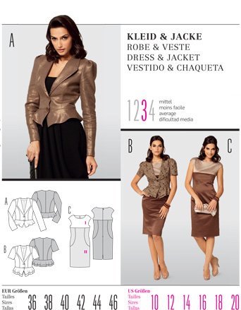 Burda DRESS & JACKET 7495