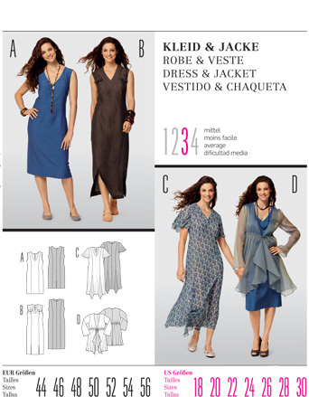 Burda DRESS & JACKET 7502