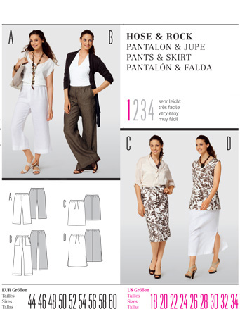 Burda PANTS & SKIRT 7505