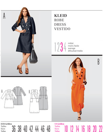 Burda Misses DRESS 7513