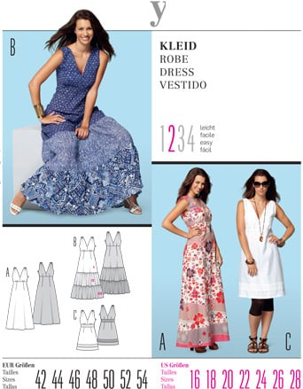 Burda Misses DRESS 7547