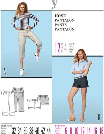 Burda Misses PANTS 7550