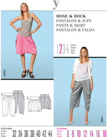 Burda PANTS & SKIRT 7551