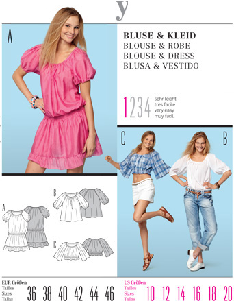 Burda Misses BLOUSE & DRESS 7554