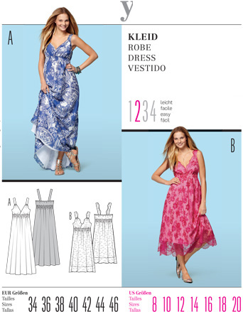 Burda Misses DRESS 7555