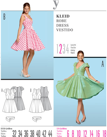 Burda 7556 Misses Dress