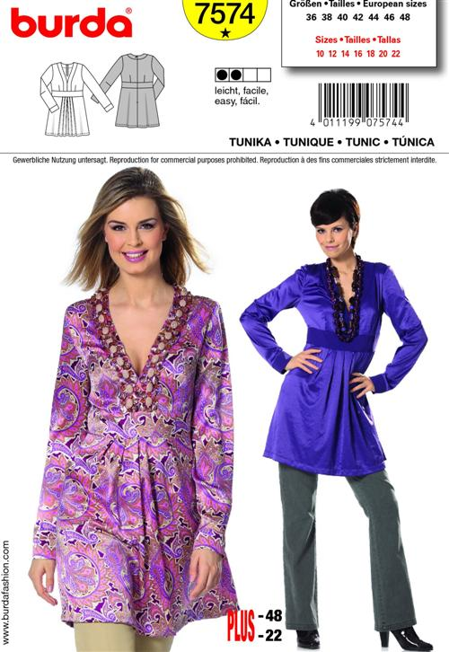 Burda Misses TUNIC 7574