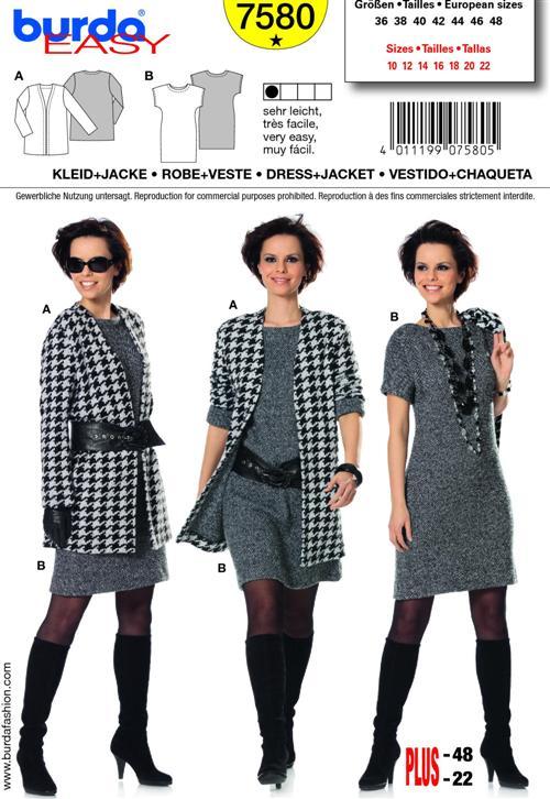 Burda 7580 knit dress