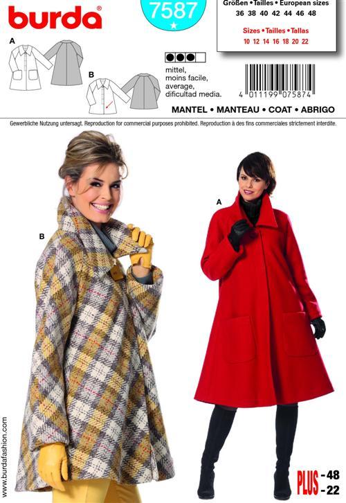 Burda Misses Coat 7587