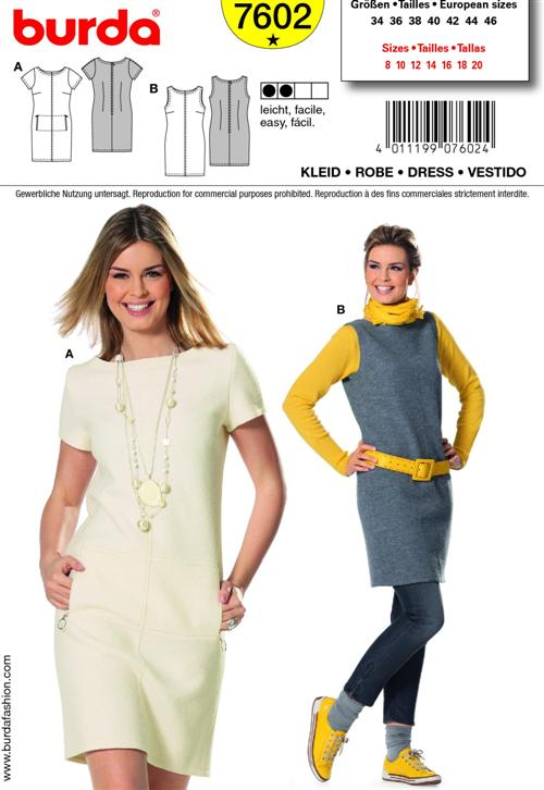 Burda Misses DRESS 7602