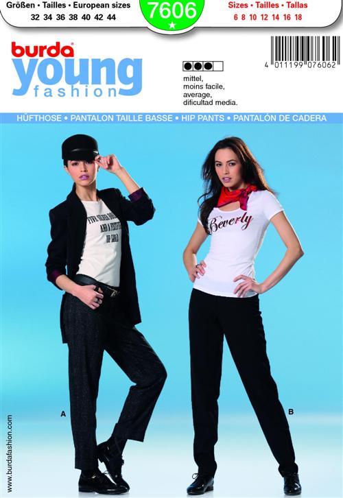Burda HIP PANTS 7606