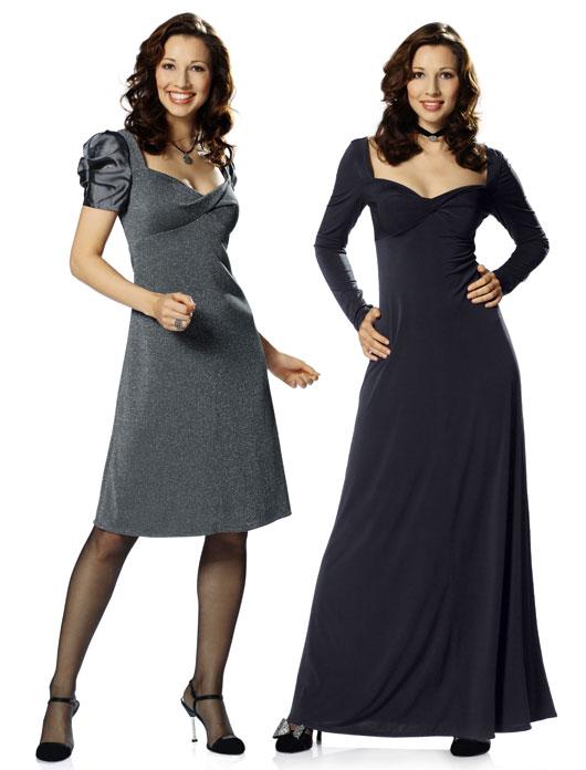 шить легкие модели платьев из трикотажа для полных