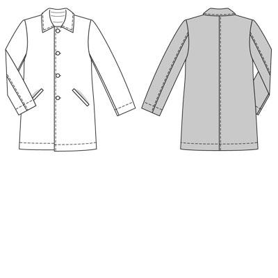 Burda Mens coat 7780
