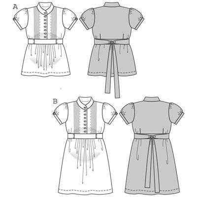 Burda Blouse dress maternity wear 7800