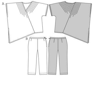 Burda Top trousers/pants 7801
