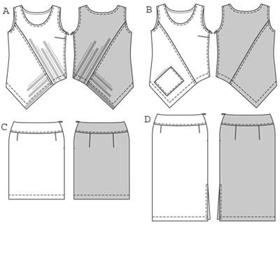 Burda Top Skirt 7804