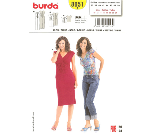 Burda T-Shirt, Dress 8051
