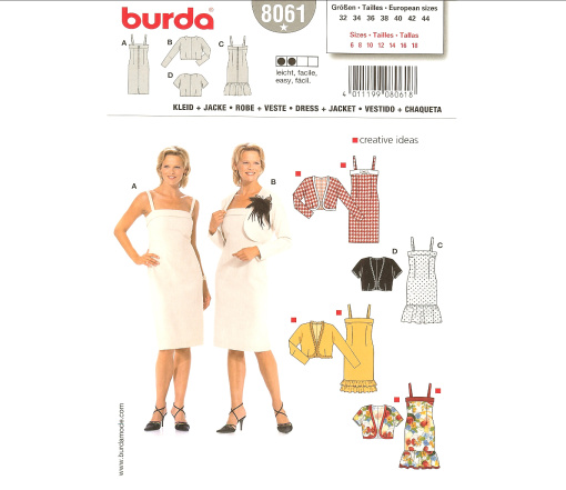 Burda Misses Dress & Jacket 8061