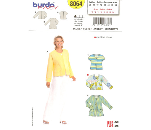 Burda Misses and Plus Jacket 8064