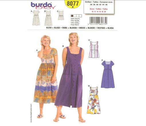 Burda Dress 8077
