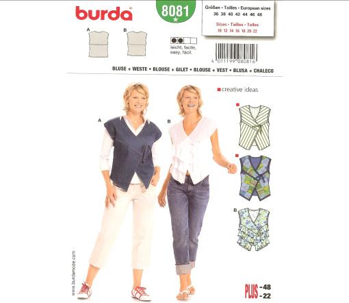 Burda Blouse & Vest 8081