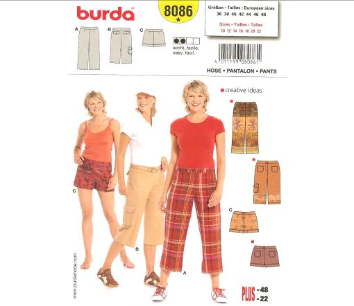 Burda Pants 8086