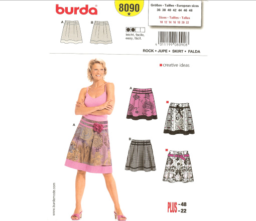 Burda Misses Skirt 8090