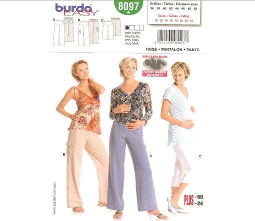 Burda Pants 8097