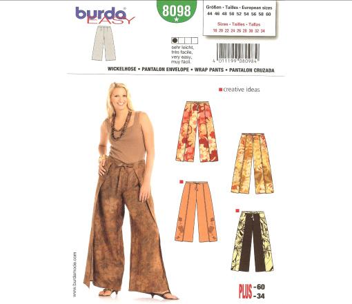 Burda Wrap Pants 8098
