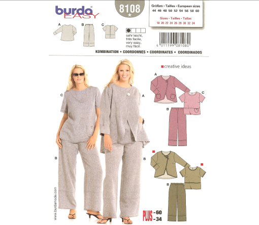Burda Misses and Plus Coordinates 8108