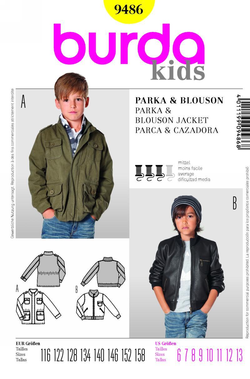 Burda Parka or Jacket 9486