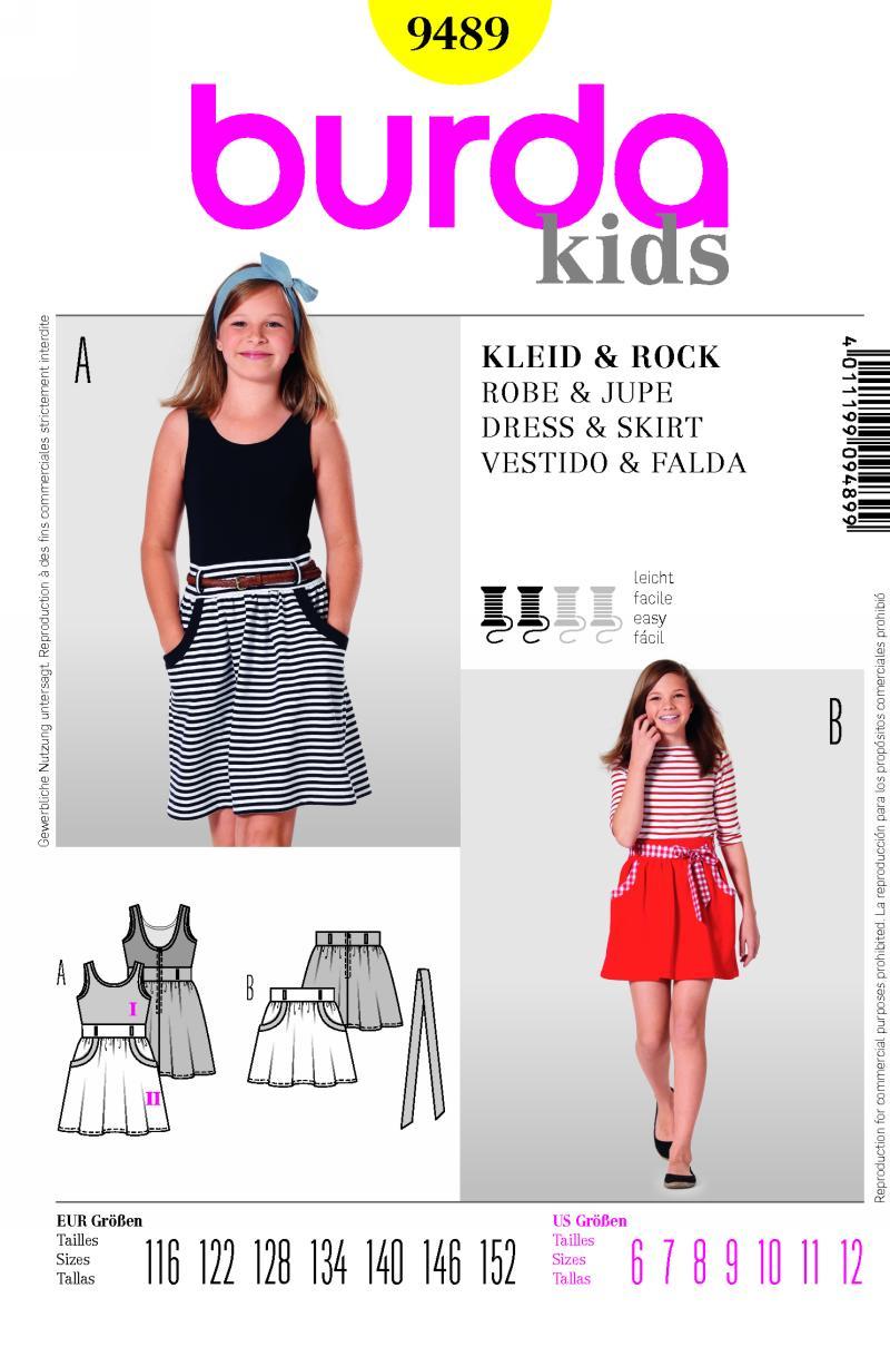 Burda skirt and dress 9489