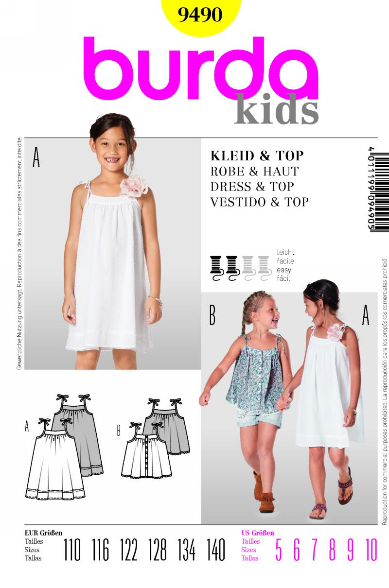 Burda dress and top 9490