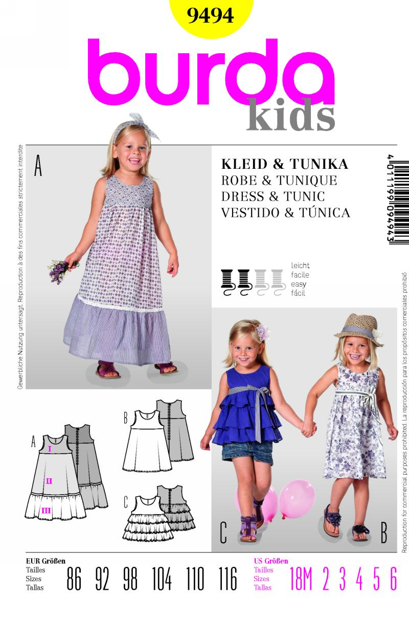 Burda dress and tunic 9494