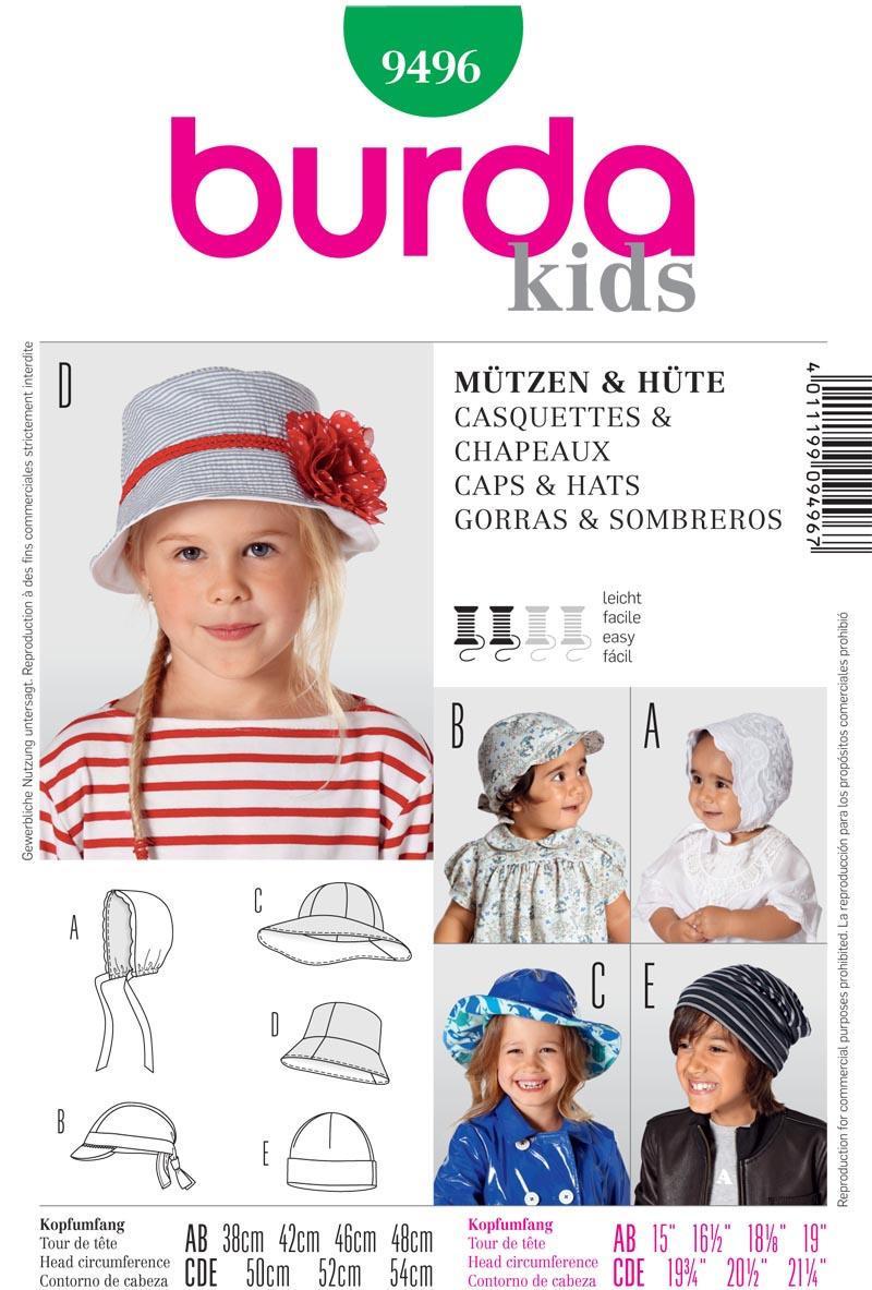Burda hats 9496