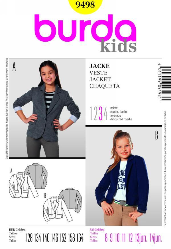 Burda childrens jacket 9498