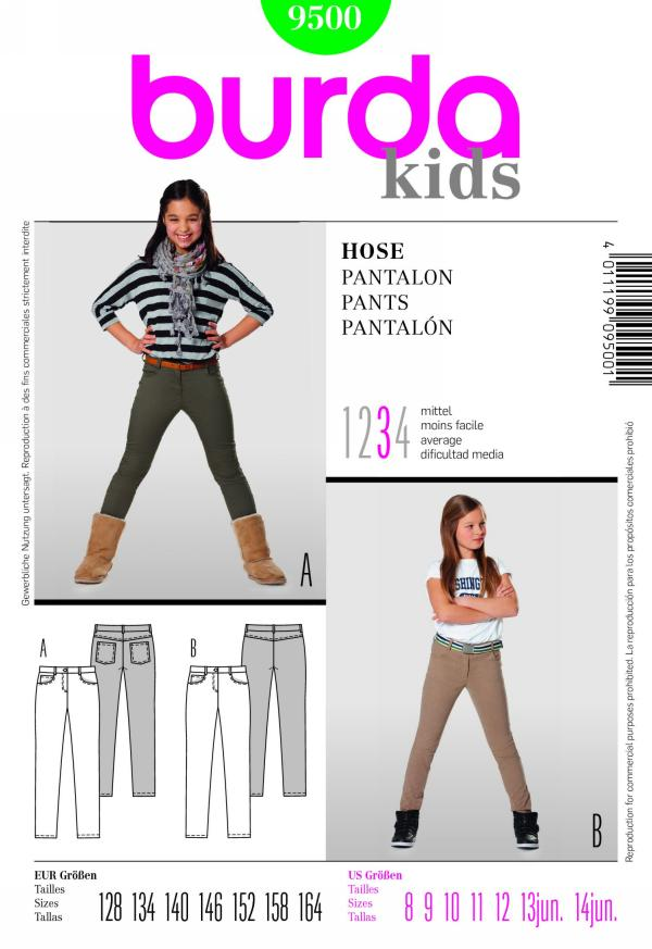 Burda girl's pants 9500