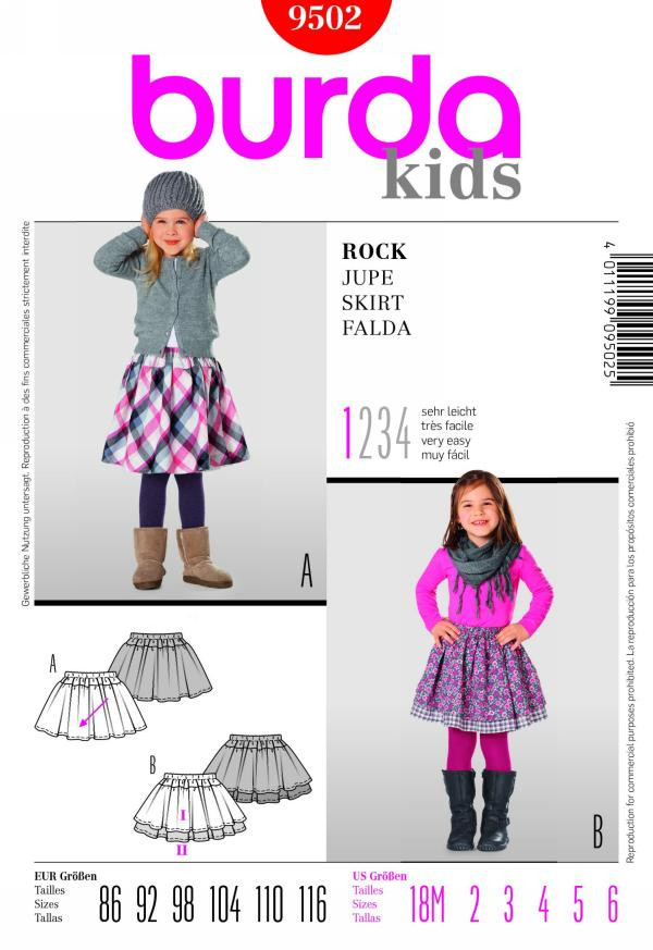 Burda girl's skirt 9502