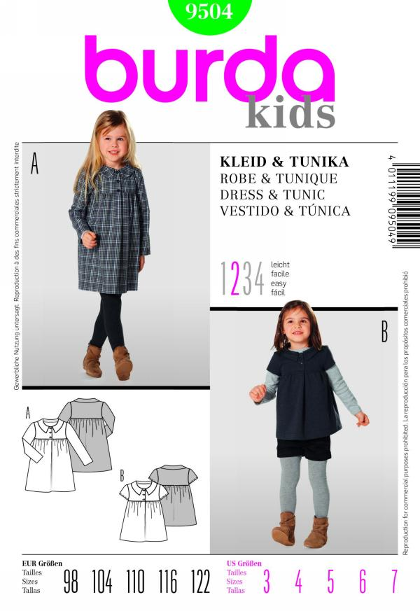 Burda girls dress and tunic 9504