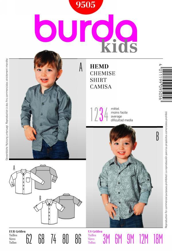 Burda children's shirt 9505
