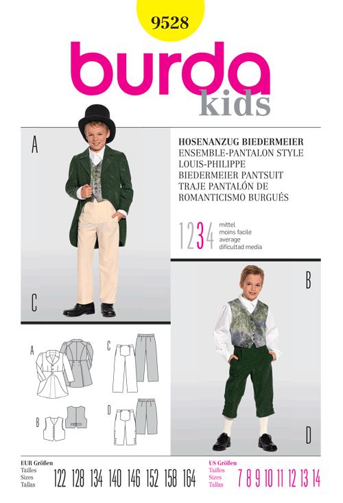 Burda Biedermeier Pantsuit Costume for children 9528