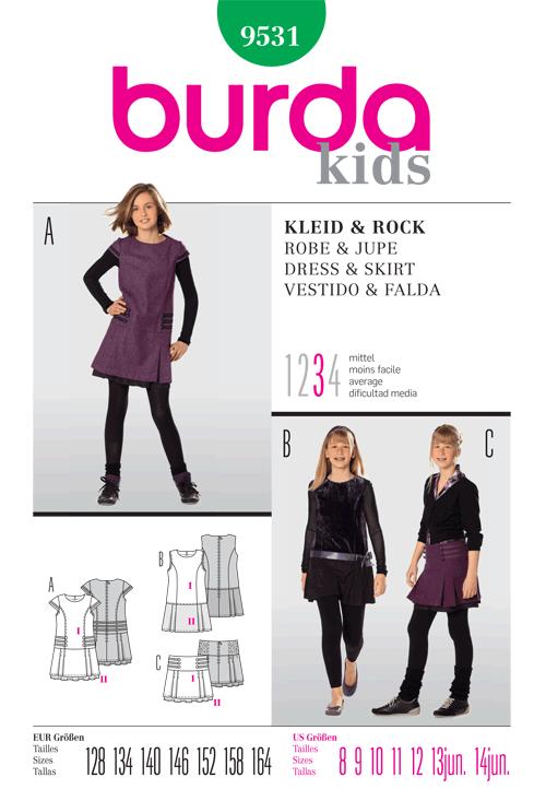 Burda Children's Dress & Skirt 9531