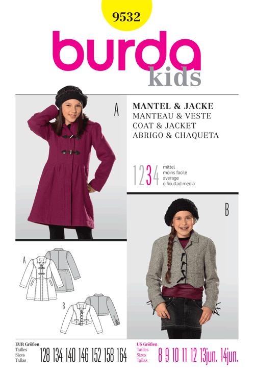 Burda Children's Coat & Jacket 9532