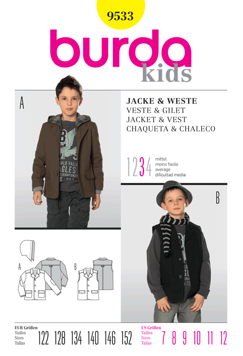 Burda Jacket & Vest 9533