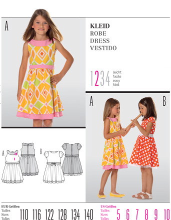 Burda Children's DRESS 9545