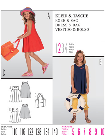 Burda Children's DRESS & BAG 9546