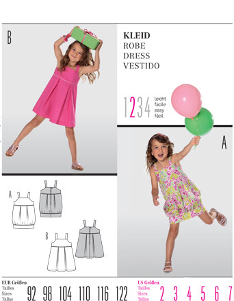 Burda Children's DRESS 9551