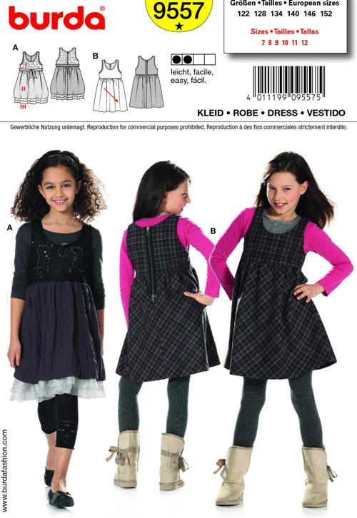 Burda Children's DRESS 9557
