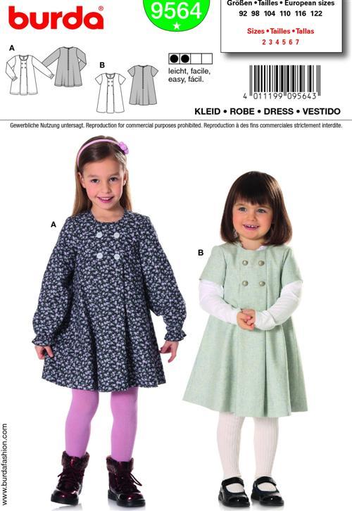 Burda Children's DRESS 9564